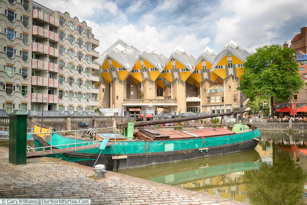 The Cube Houses from the Old Harbour, Rotterdam, Netherlands