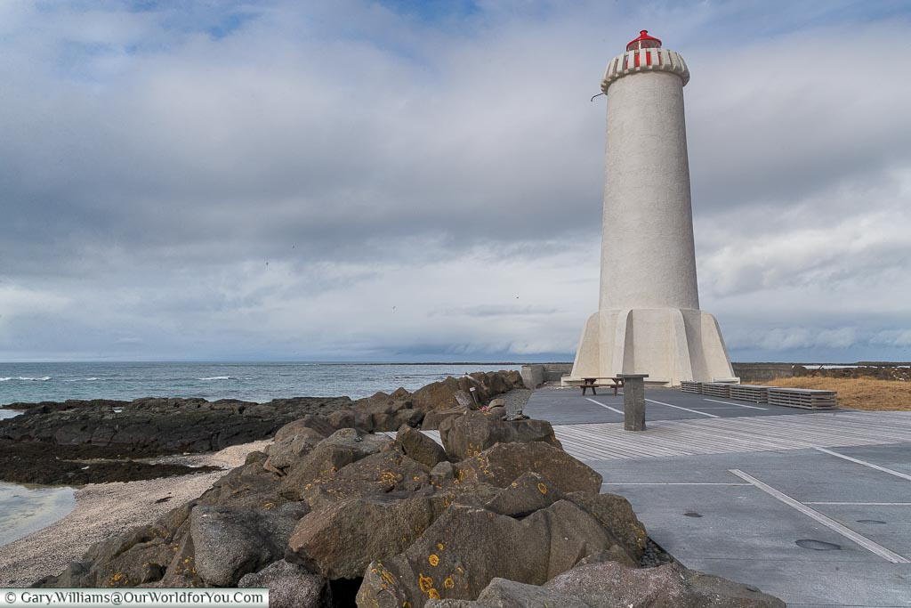 The new lighthouse at Akranes, Iceland