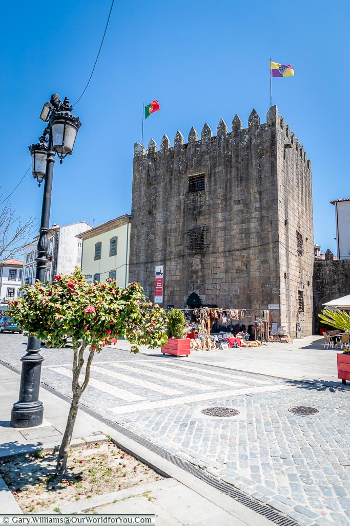 A remaining tower in Ponte de Lima, Portugal