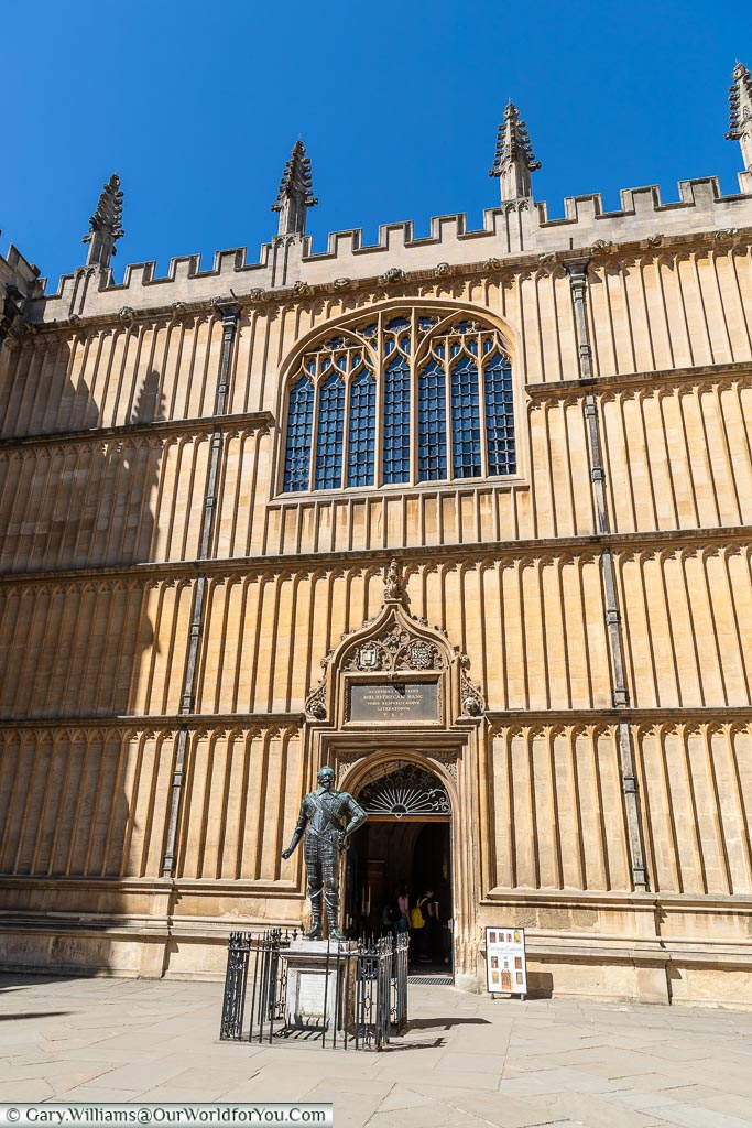 Inside the Courtyard of Bodleian Library, Oxford, England, UK