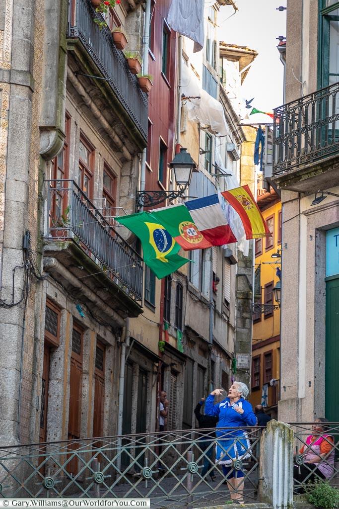 Ladies in the street, Porto, Portugal