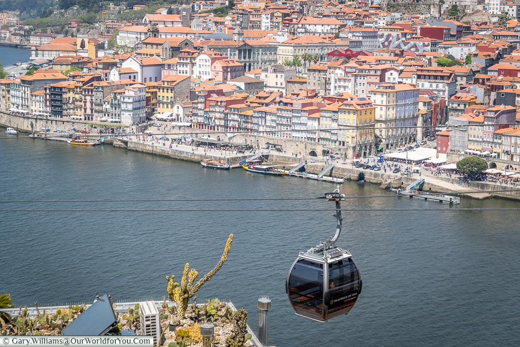 The cable car over the city, Porto, Portugal