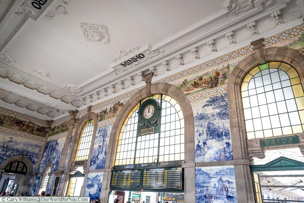 The lobby of São Bento train station, Porto, Portugal