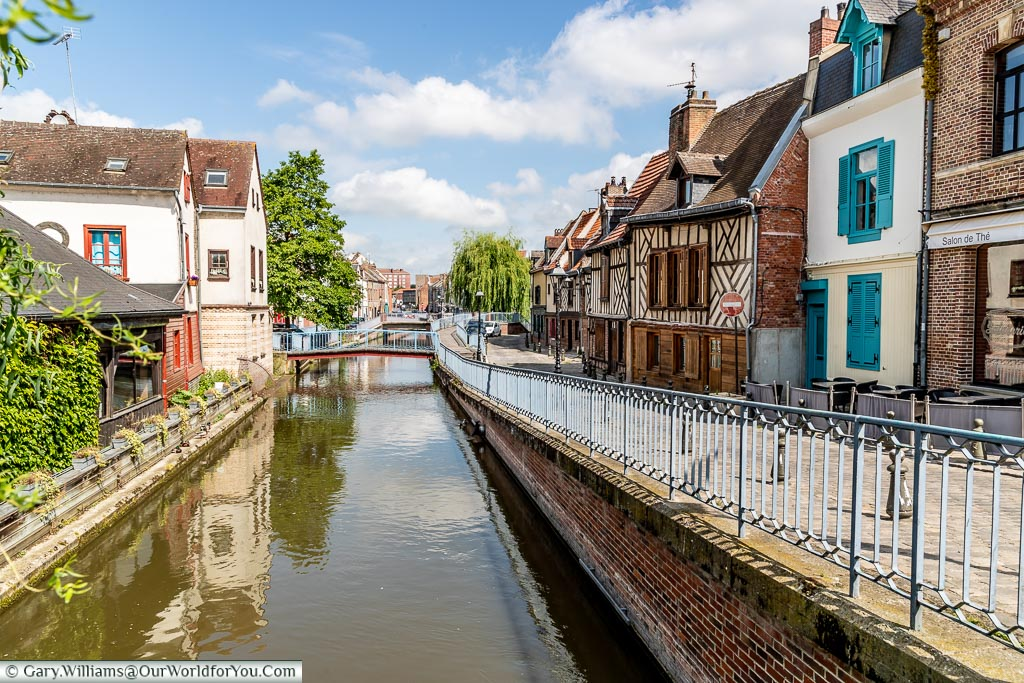 A view along the River Somme, Amiens, France
