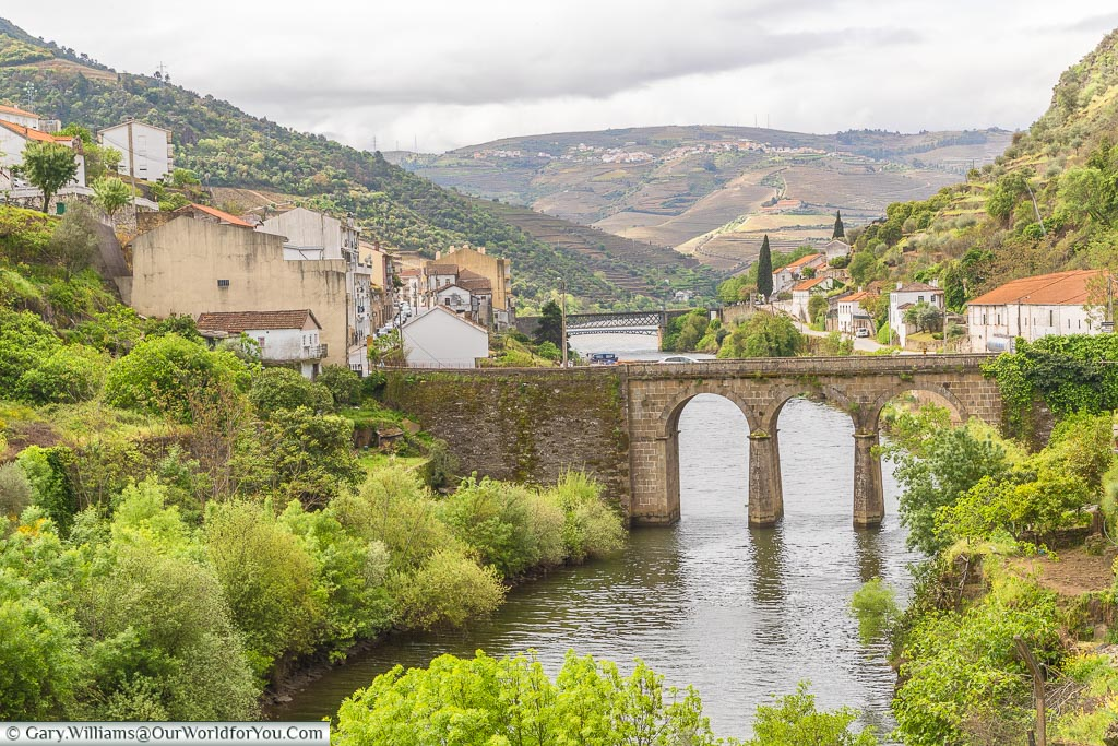 Coming into Pinhão, Douro Valley, Portugal