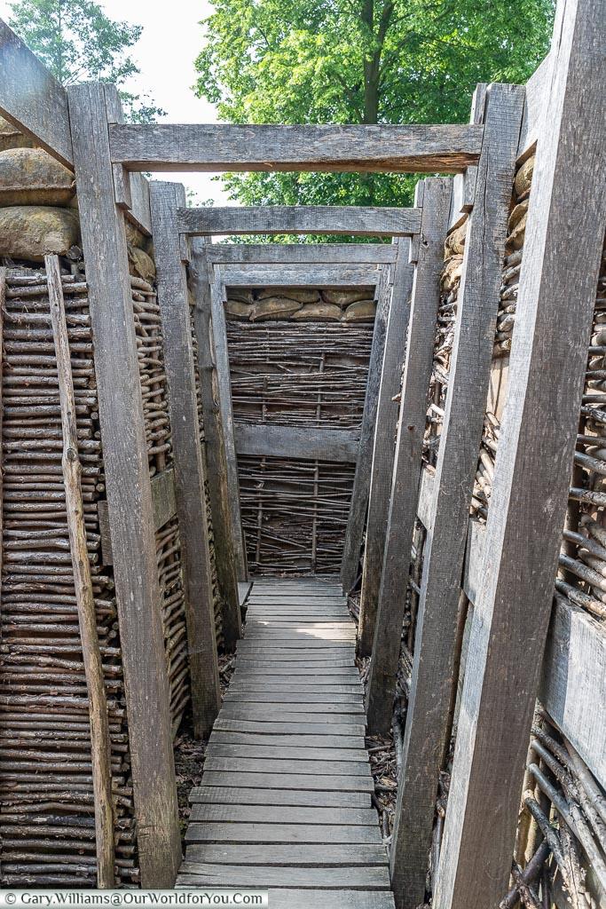 Inside a trench, Passchendaele, Belgium