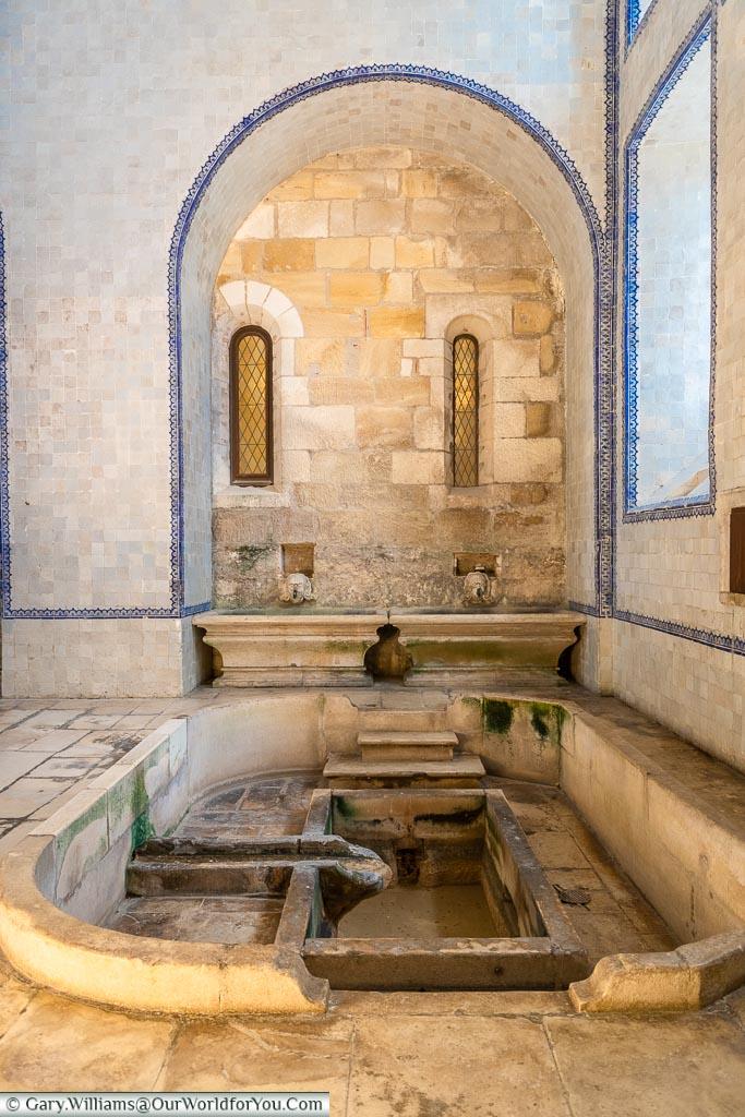 Inside the kitchen, Monastery of Alcobaça, Portugal