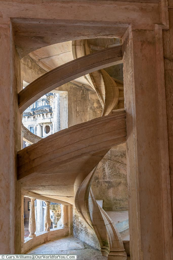 Looking through the Stairway, Tomar, Portugal