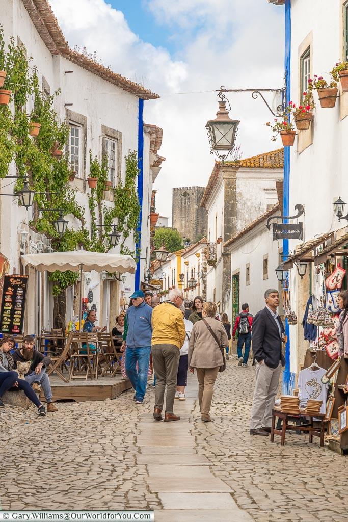 Rua Direita, Óbidos, Portugal