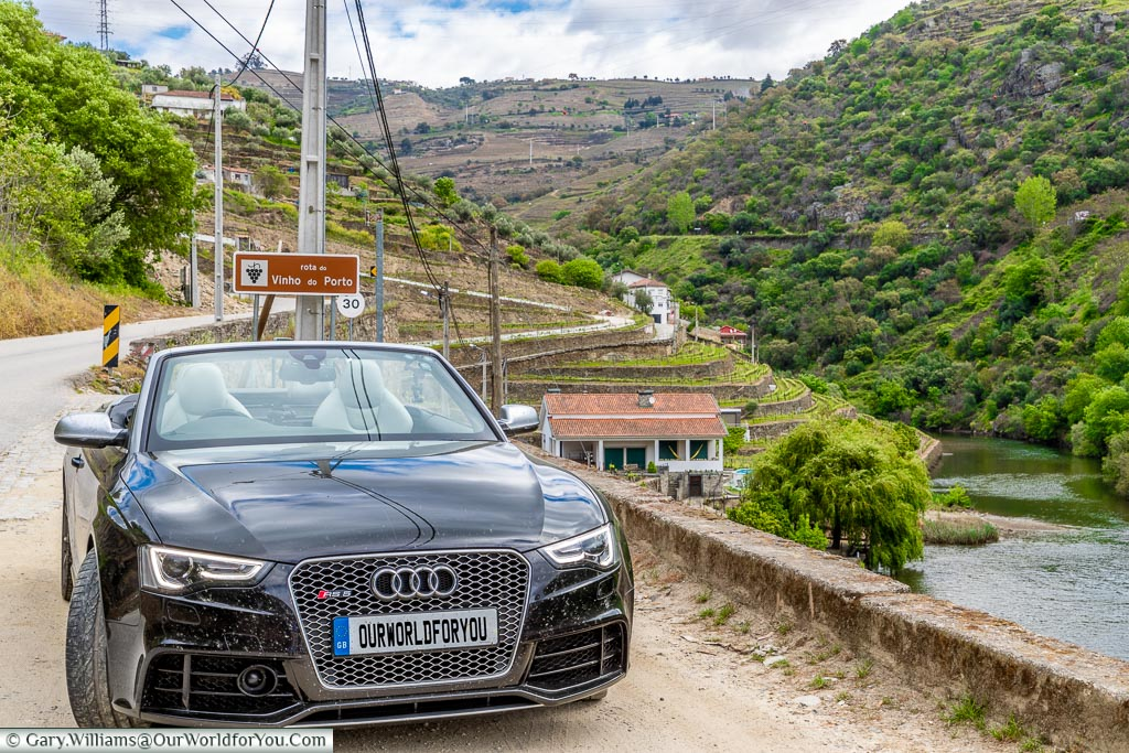 The Audi RS5 on the Rota do Vinho do Porto  Douro Valley, Portugal
