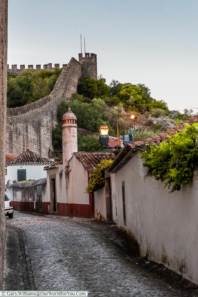 The Castle walls, Óbidos, Portugal