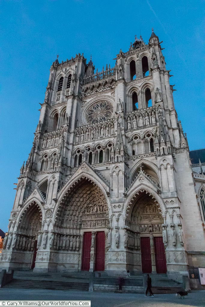 The Cathedral at dusk, Amiens, France