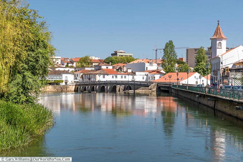 The Nabão River, Tomar, Portugal