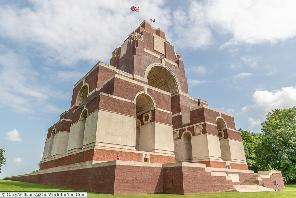 The Towering Thiepval Memorial, Thiepval, France