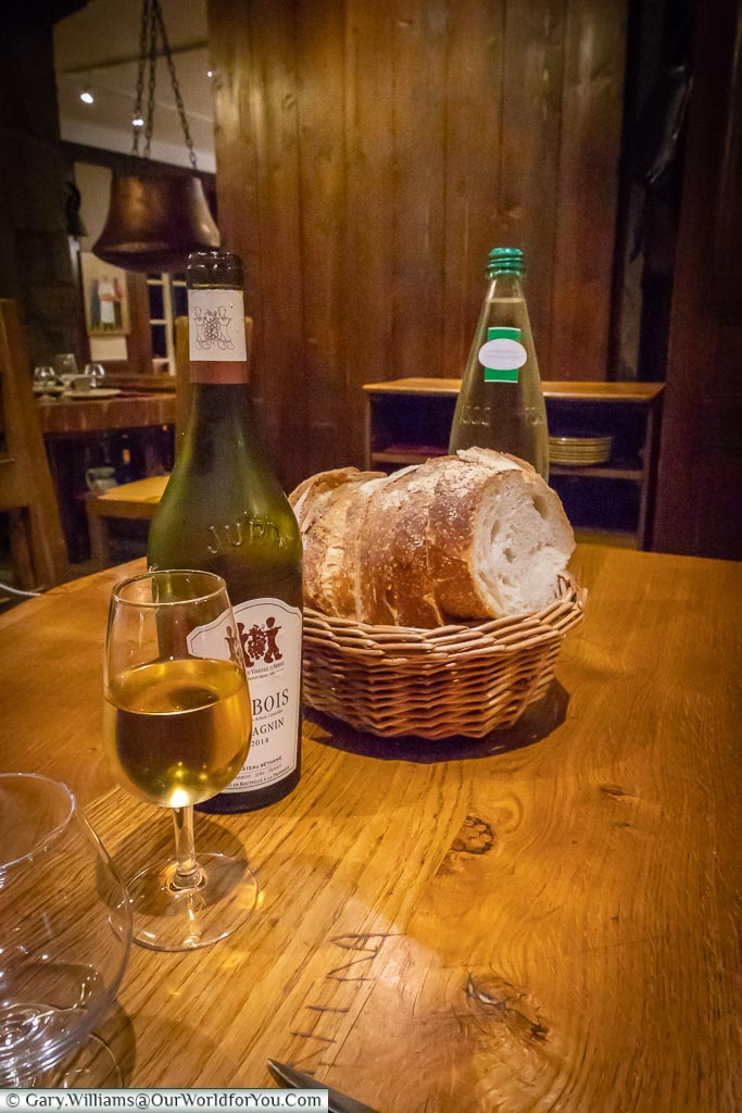 Wine & bread, Arbois, France