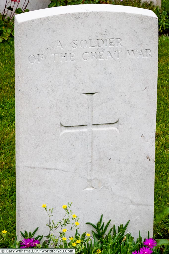 A Soldier of the Great War - headstone