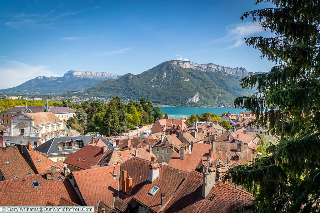 The view from the Château d'Annecy, Annecy, France