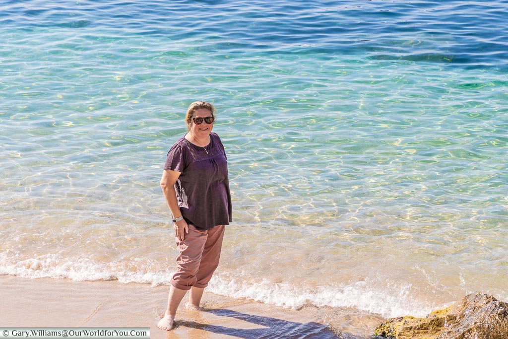 Toe-dipping in the med in Villefrance-sur-Mer, France