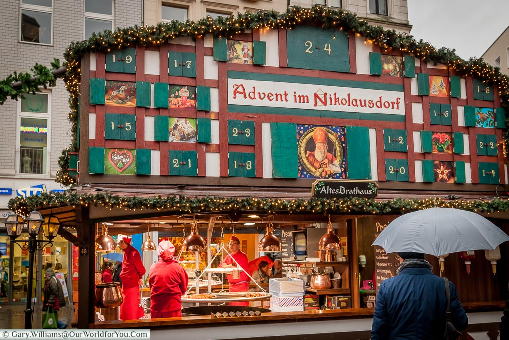 Advent in Nikolausdorf, Cologne, Germany