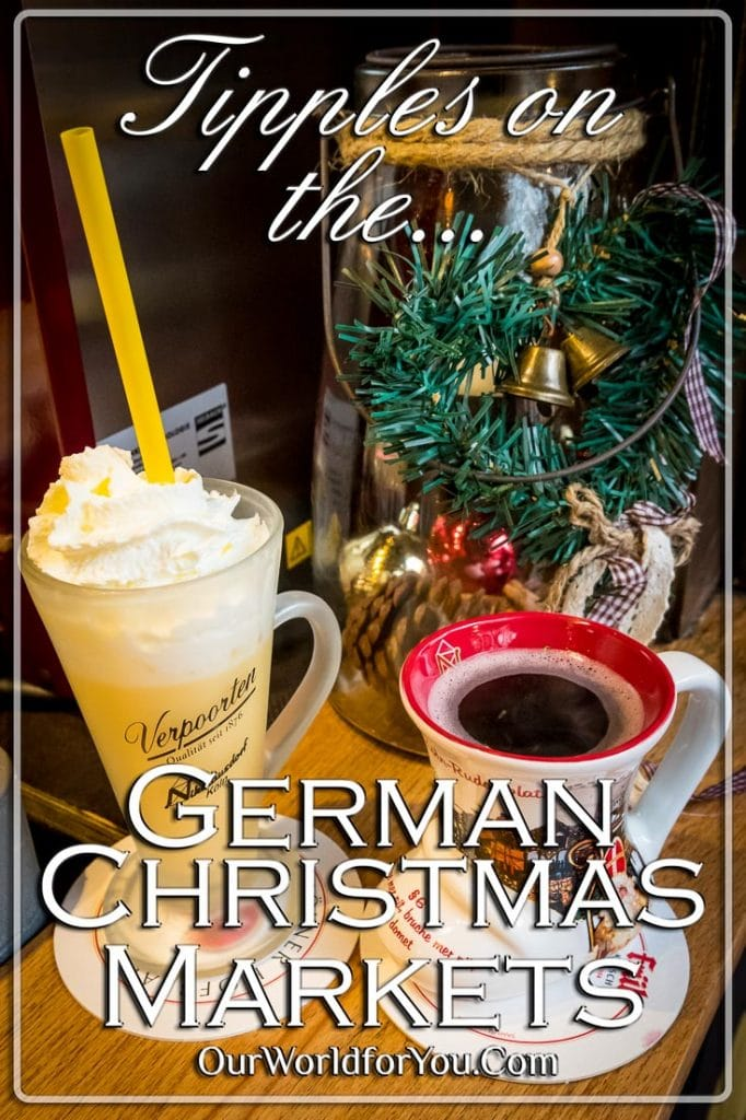 Tipples on a German Christmas Market, Cologne, Germany