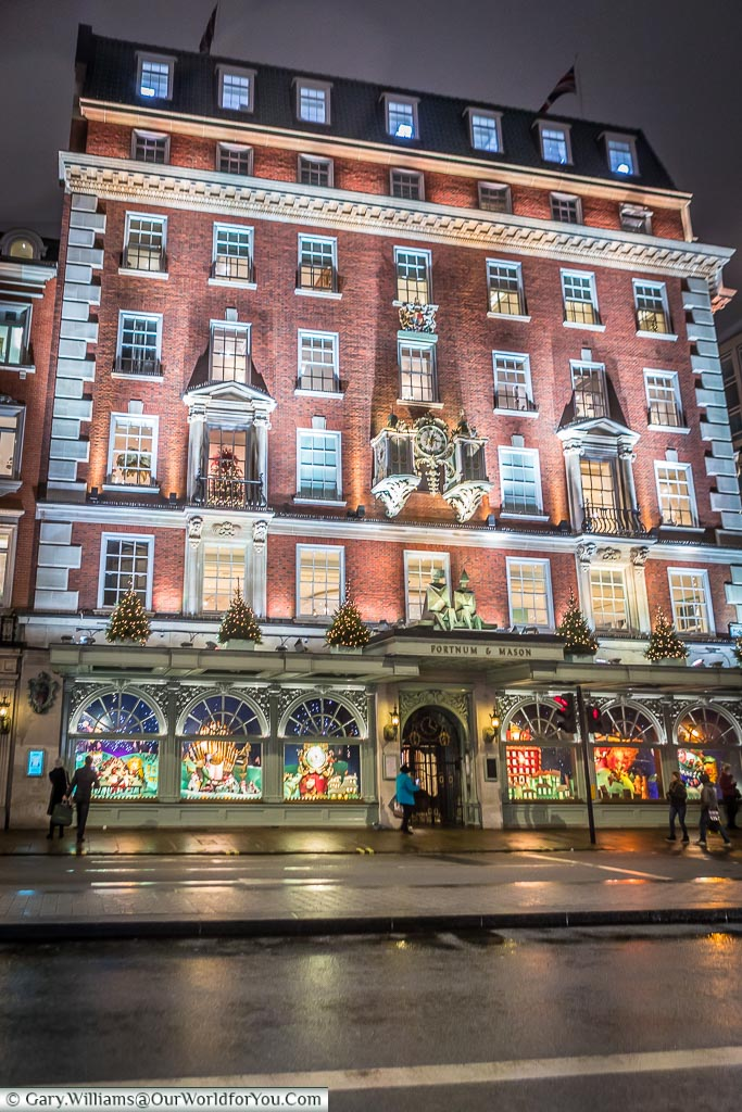 Fortnum & Mason's store at Christmas, London, England, UK