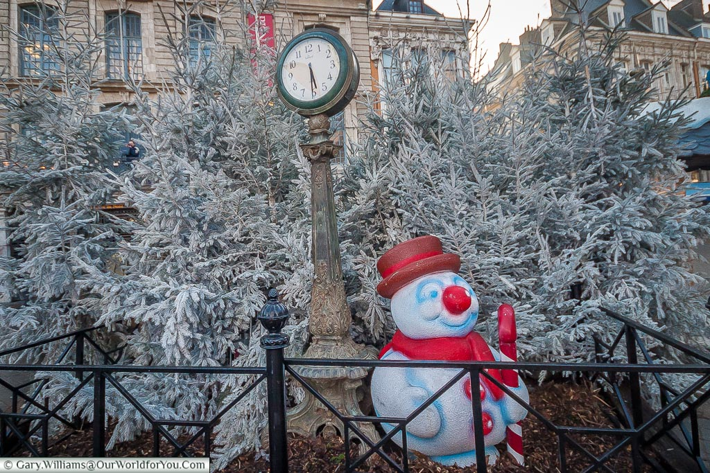 Frosty the snowman, Lille, France