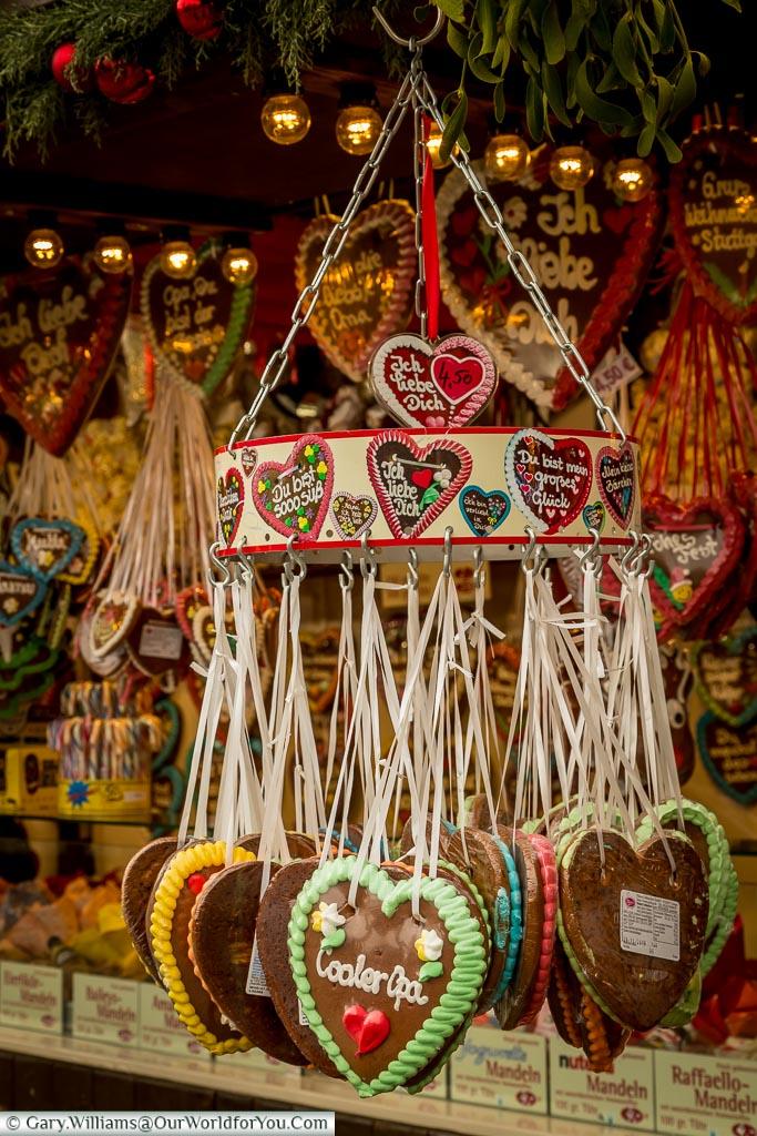 Gingerbread hearts, Stuttgart, Germany