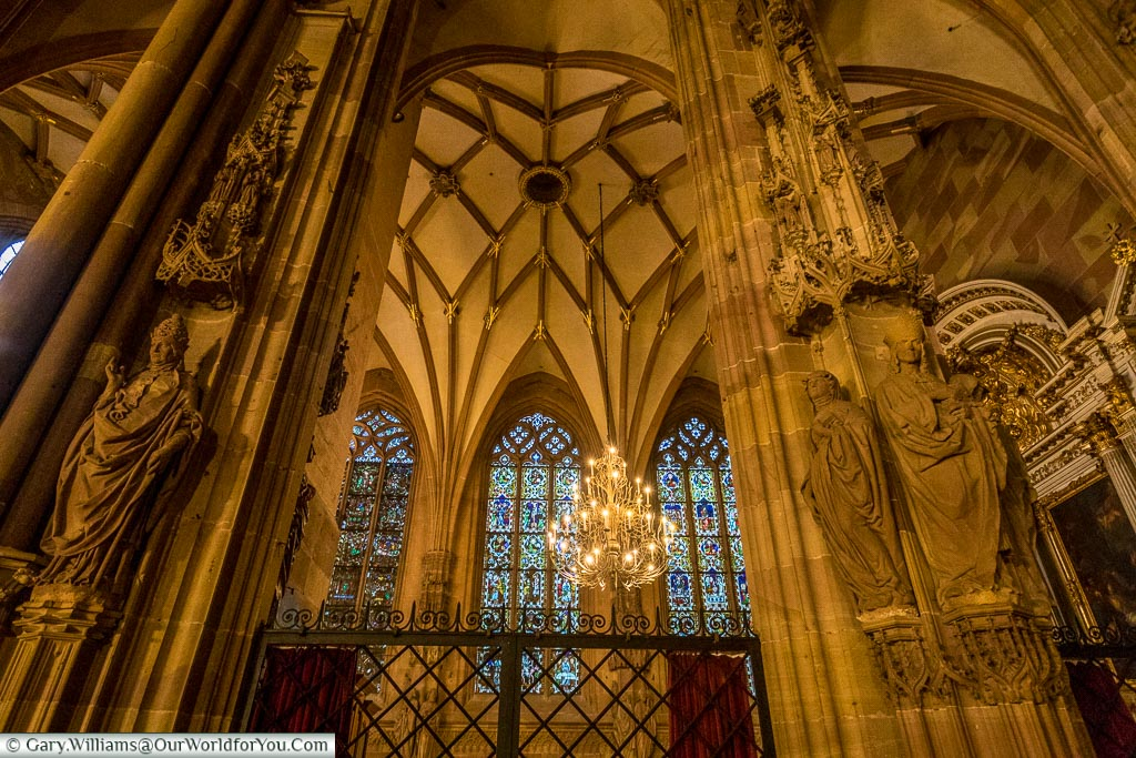 Inside the Cathedral, Strasbourg, France