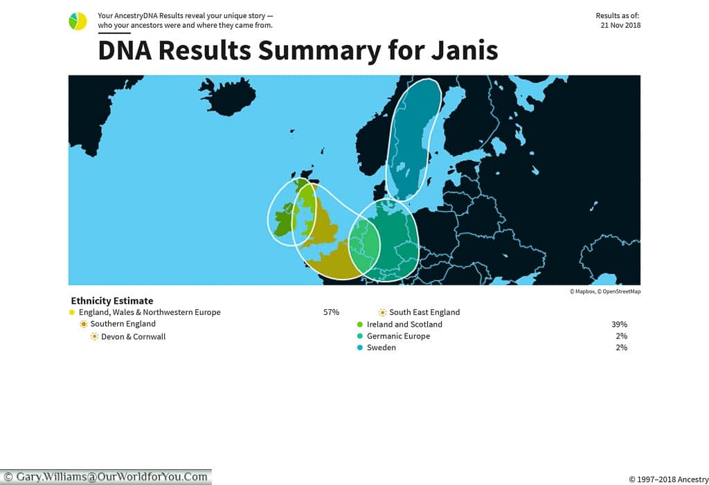 Janis - Ancestry DNA Results