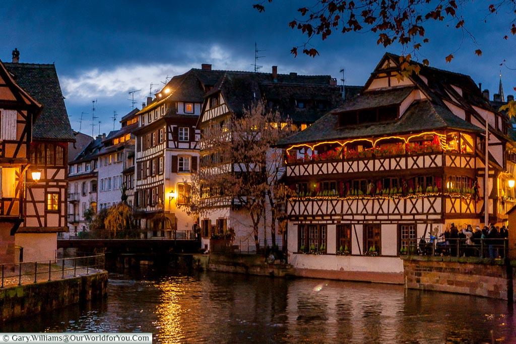 Quai des Moulins at Christmas, Strasbourg, France