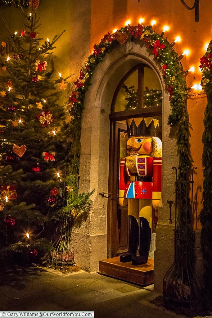 The Toy Solder stands guard, Rothenburg ob der Tauber, Germany