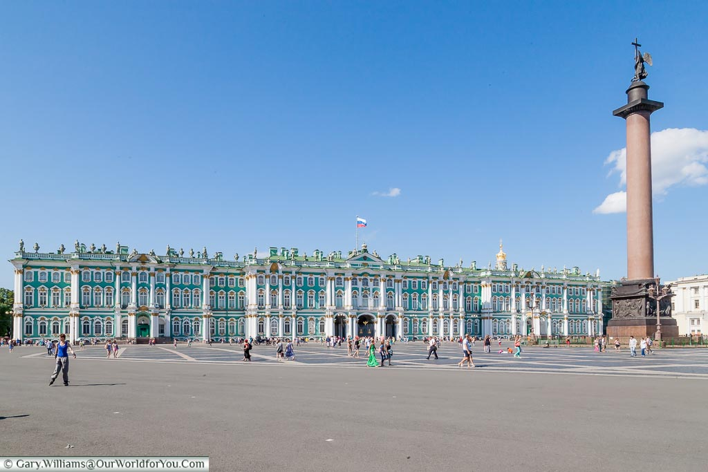 The Hermitage Museum (Winter Palace), St Petersburg, Russia.