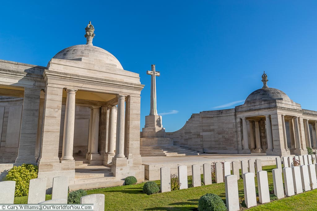 The cross of sacrifice in , Loos Memorial, France