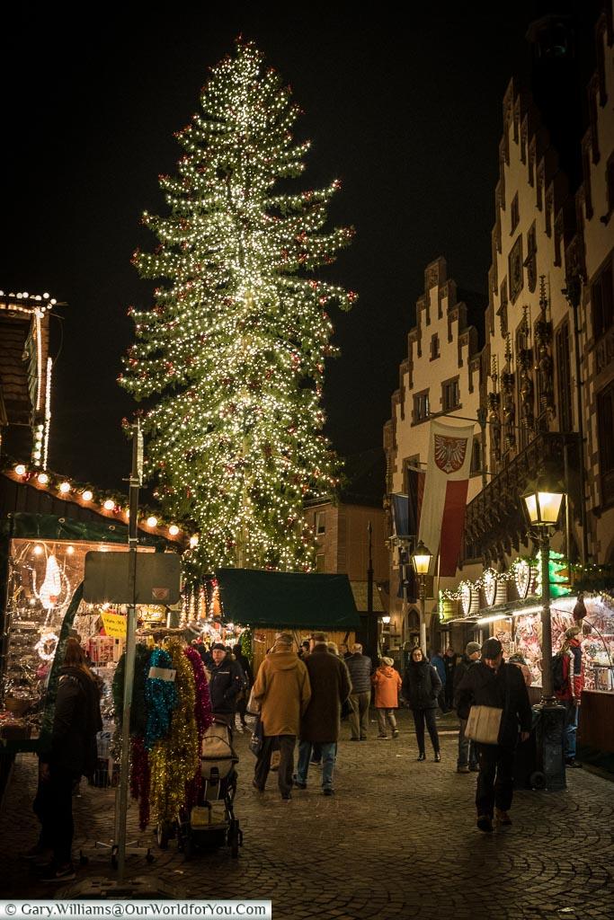 The main Christmas tree, Frankfurt, Germany