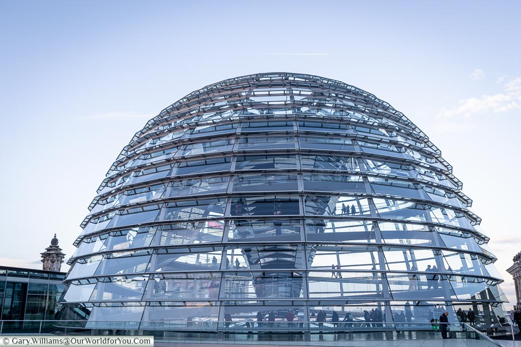 The dome on the Reichstag Building, Berlin German Christmas Markets