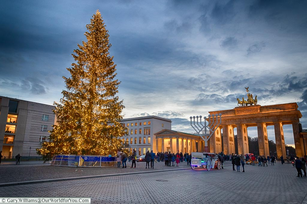 The tree in front of the Brandenburg Gate, Berlin German Christmas
