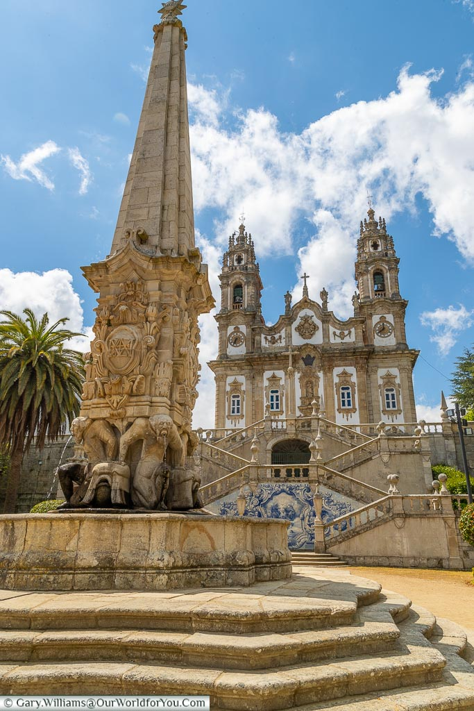 Getting closer to Our Lady of Remedies, Lamego, Portugal