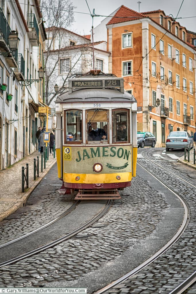 The Jameson's Tram 28, Lisbon, Portugal