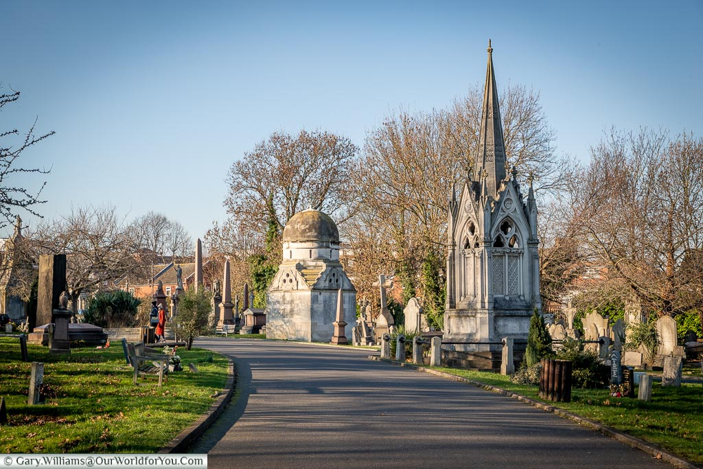 The mausoleum of James William Gilbart, West Norwood Cemetery, London