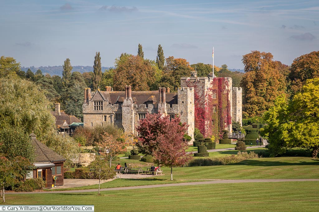 The view of Hever Castle, Kent, England, UK