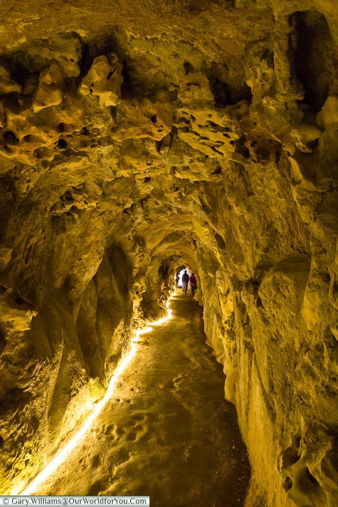 Tunnels through the grotto, Quinta da Regaleira, Sintra, Portuga
