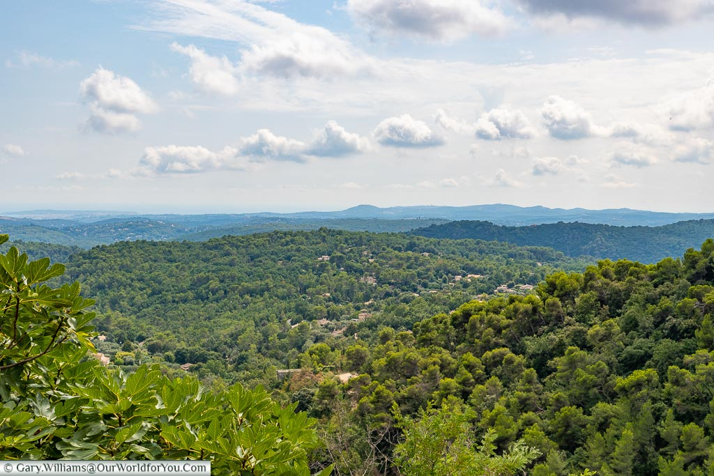 View of the landscape from Tourrettes-sur-Loup, France
