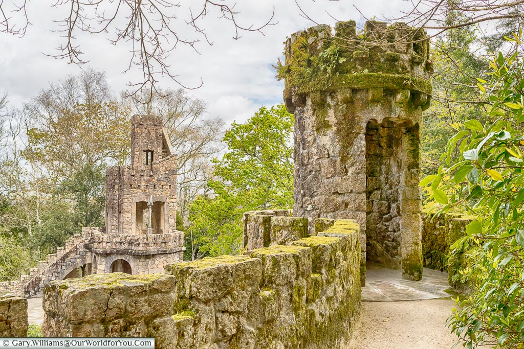 Standing on the Portal of the Guardians, Quinta da Regaleira, Sintra, Portugal