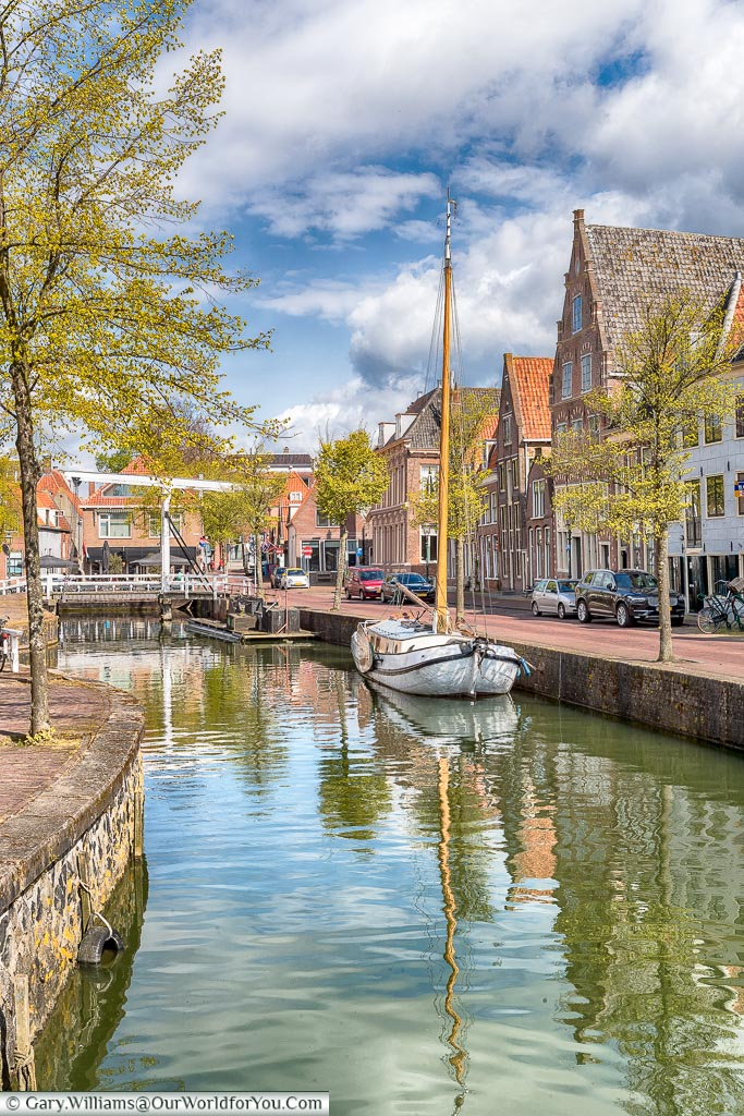 A quiet canal in Hoorn, Holland, Netherlands