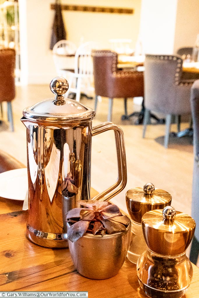 Hot Coffee for Breakfast, The White Horse, bespoke hotels, Dorking, Surrey, England, UK