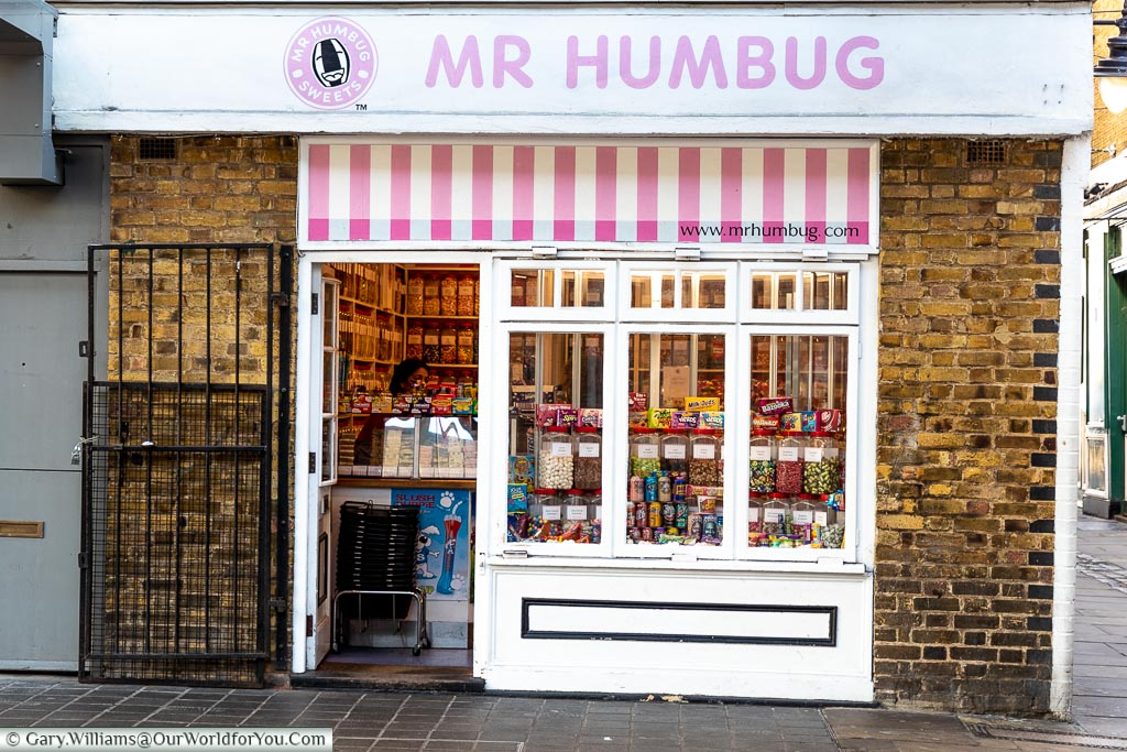 Mr Humbug - Tradtional Sweetshot, Greenwich Market, Greenwich, London, England, UK