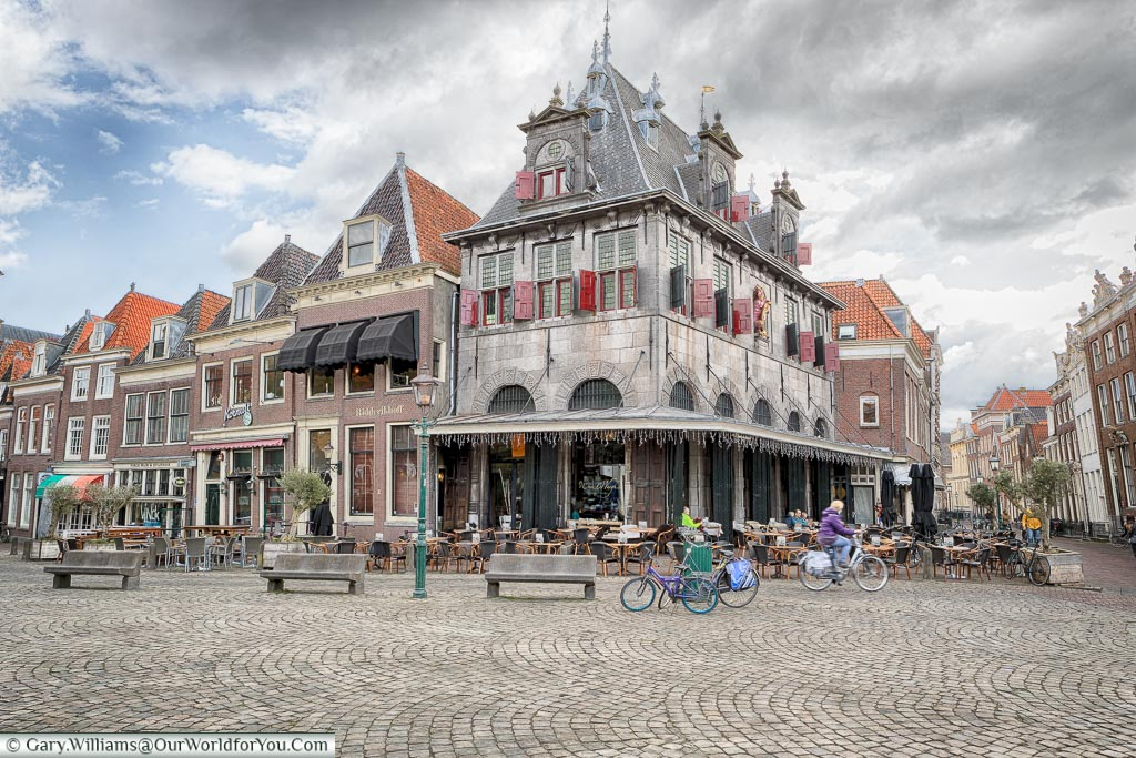 Rood Steen square in Hoorn, Holland, Netherlands