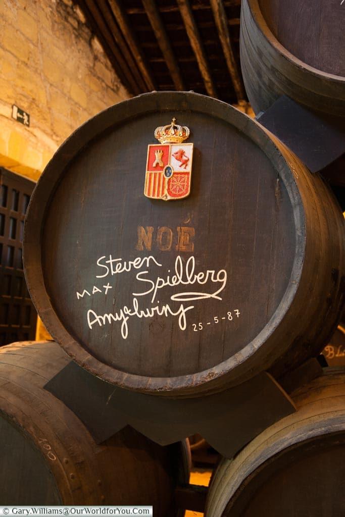 Steven Spielberg's barrel, Tio Pepe, Gonzalez Byass, Jerez, Spain