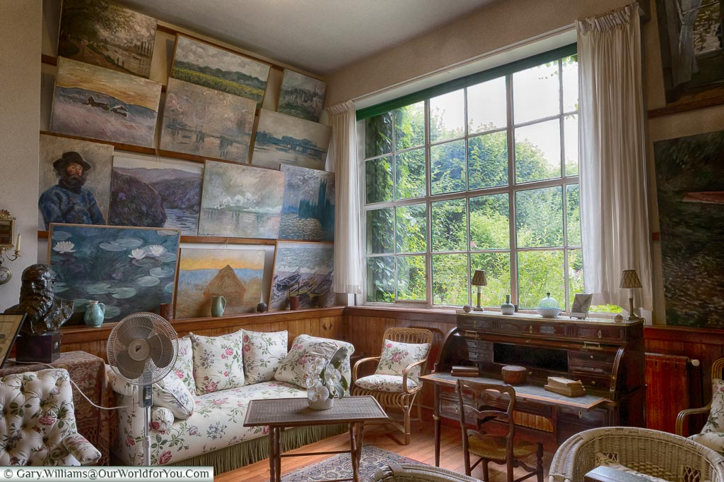 The salon-studio, Giverny, Normandy, France
