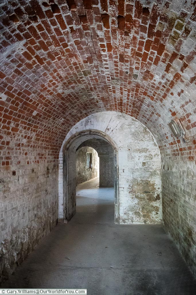 The tunnels under Upnor Castle, Upnor, Kent, England, UK